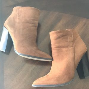 Orange/ Black booties